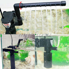 3 in 1 Aquarium Internal Submersible Filter Fish Tank Filtration Pump Spray Bar