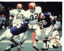 JIM  BROWN   RUSHING   CLEVELAND  BROWNS  UNSIGNED 8X10   PHOTO