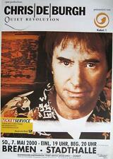 "CHRIS DE BURGH TOUR POSTER / KONZERTPLAKAT ""QUIET REVOLUTION TOUR 2000"""