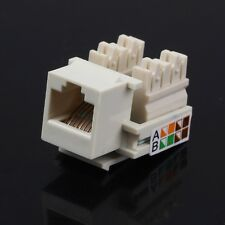 10pcs/set RJ45 Cat5 Punch Down Keystone Jack Network Ethernet ALMOND Lot Pack