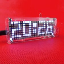 5V DIY Dot Matrix Digit LED Electronic Clock Kit Temperature 24 Hours Display