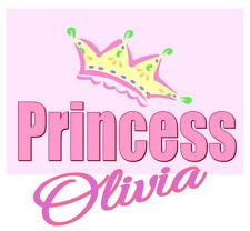 "Princess Iron On Transfer Personalized w/ Name, 5""x5.5"" for LIGHT Colored Fabric"