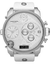 NUOVO * Mens DIESEL DIGITALE Big Daddy Bianca XL 4 fuso orario watch-DZ7194-Rrp £ 309