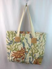 """Swavelle Mill Creek """"Crab Walk"""" Upholstery Fabric Fully Lined Large Tote Bag"""