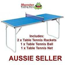 FOLDABLE PORTABLE TABLE TENNIS PING PONG TABLE INCLUDES 2 RACKETS,1 BALL, 1 NET