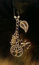 "Handmade dangle charm hair pin/clip (""antique silver"")"
