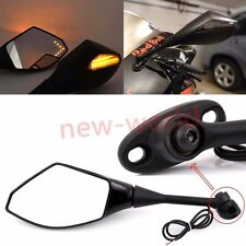 Black LED Turn Signal Side Mirrors For Honda CBR1000RR CBR600RR CBR250R CBR500R
