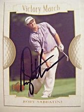 RORY SABBATINI signed 2001 Upper Deck golf card AUTO SOUTH AFRICA UD 162 ARIZONA