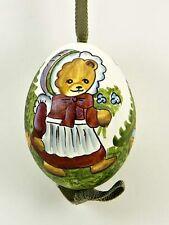 Peter Priess of Salzburg Austrian Hand Painted Easter Eggs - Little Girl Bear