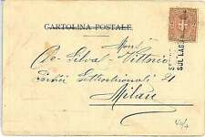 ITALIA REGNO: Cartolina con annullo NATANTE : SERVIZIO POSTALE LAGO MAGGIORE