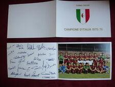 Torino Calcio Campione d'Italia Scudetto 1975/76 squadra autografi calciatori