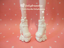 Doll Shoes~Mattel Monster High White Platform Heel Shoes 1pair #MS-548 NEW