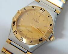 Large Size Ladies Omega Constellation Watch 18k Gold & SS