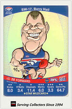 2011 AFL Teamcoach Cards Star Wild SW17 Barry Hall (Western Bulldogs)