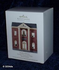 2012 Hallmark PUBLIC LIBRARY Nostalgic Houses CLUB Exclusive Special Edition NEW