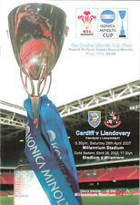 Cardiff v Llandovery 2007 Konica Minolta WELSH CUP FINAL RUGBY PROGRAMME