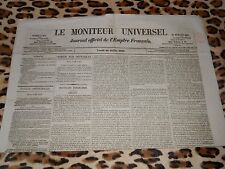 LE MONITEUR UNIVERSEL, journal officiel de l'empire français, n° 207, 26/07/1858