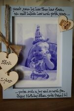 Personalised Photo Frame by Filly Folly! Baby 1st First Birthday Gift!