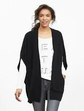 Banana Republic Black Drapey Short-Sleeve Open Cardigan, BLACK SIZE M/L  #723077