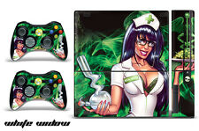 Skin Decal Wrap for Xbox 360 E Gaming Console & Controller Sticker Design WIDOW