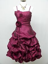 Cherlone Purple Prom Party Ball Evening Wedding Bridesmaid Formal Dress 12-14