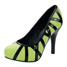 T.U.K. HARLOT HEEL WILD STREETS NEON GREEN Ladies Size UK5/EU38 A8414L