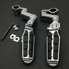 "1"" Chrome Motorcycle Footrest Foot Pegs Mounts Clamps Fit For Harley Davidson ##"