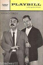 """Zero Mostel """"Rhinoceros"""" Ralph Meeker / Dolores Sutton 1961 Broadway Playbill"""