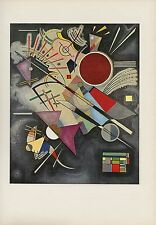"1958 Vintage KANDINSKY ""BLACK ACCOMPANIMENT"" GORGEOUS COLOR Art Print Lithograph"