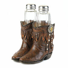 NEW Cowboy Boots Salt Pepper Shakers Western Kitchen Dining