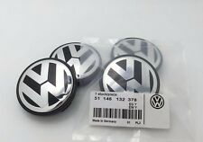 4x VOLKSWAGEN ALLOY WHEEL BADGES CENTER HUB CAPS 56mm VW Golf Polo Lupo Fox Bora