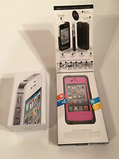 Apple iPhone 4S - 32GB - White (Unlocked) Smartphone With LifeProof Case