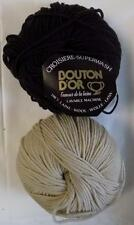 WOOL BOUTON D'OR WASHABLE BABY-SPORT YARN 4 BALLS CARGO BROWN + 3 MILKY MALT 6S