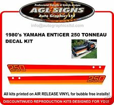 1980 'S YAMAHA ENTICER ET 250 TONNEAU DECAL KIT  reproductions graphics