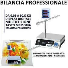 BILANCIA DIGITALE  LCD DOPPIO DISPLAY  DI PRECISIONE  5 GR - 30 KG MULTIFUNZIONE