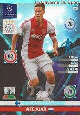 280 MOISANDER AFC.AJAX DEFENSIVE CARD CHAMPIONS LEAGUE ADRENALYN 2015 PANINI