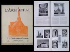 L'ARCHITECTURE 1938 CHANTIERS DU CARDINAL, EGLISES, BANLIEUE PARIS, TOURNON