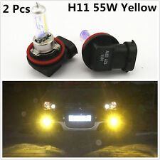H11 55W Hyper Golden Yellow Eye Halogen Xenon Gas HID Fog Light Daylight Bulbs