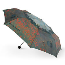 New Cascada Collection - Claude Monet Poppy Field Artist Print Folding Umbrella
