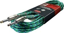 Stagg SGC6VT Vintage Tweed Guitar/Amp Cable 20 feet long Green Warranty
