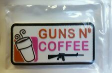 GUNS AND COFFEE 3D PVC MORALE PATCH TACTICAL AIRSOFT PAINTBALL