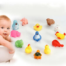 13 Cute Various Floating Squeaky Animals Rubber Bath Toys For Baby Kids Children