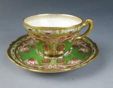 Antique 19th C. Haviland Limoges Art Nouveau Demitasse Cup & Saucer Porcelain