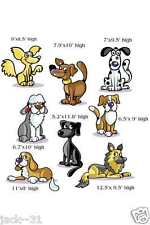 Wall sticker 8X KID NURSERY DAYCARE FUNNY dogs