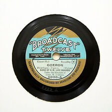 "BAND OF H.M. LIFE GUARDS ""Oberon - Overture"" BROADCAST 5020 [78 RPM]"