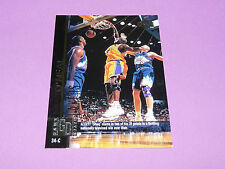 SHAQUILLE O'NEAL LAKERS GAME DATE UPPER DECK 1998 NBA BASKETBALL CARD