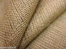 "Natural hessian jute sack fabric  SOLD PER METRE  40""w upholstery or garden use"