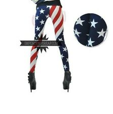 LEGGINGS BANDIERA AMERICANA USA pantaloni leggins collant calze stati uniti flag