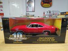 Rare Ertl American Muscle Red 1969 Dodge Charger 500 W/Factory Error On Box, New