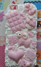 Iphone 5 Pink And White Cute Kawaii Glitter Decoden Whipped Phone Case